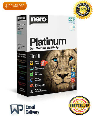 Nero Platinum 2019 + Content Pack FULLTIME 🔥FAST EMAIL DELIVERY Windows KEY🔑