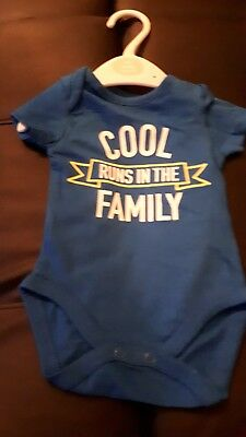 Cool runs in the family  Baby Vest Top 0- 3 Months
