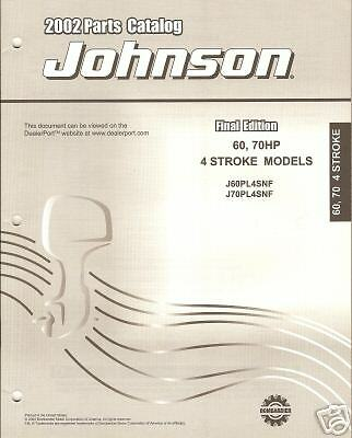 2002 JOHNSON 60, 70Hp 4 Stroke Outboard Parts Manual