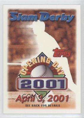 2001 Topps Opening Day Slam Derby Sweepstakes Entries #4-03 April 3 Card