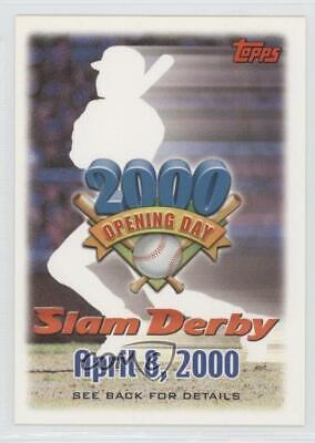 2000 Topps Opening Day Slam Derby Sweepstakes Entries #4-8 April 8 Baseball Card