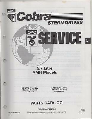 1992 Omc Cobra Stern Drive 5.7 Litre Amh  Parts Manual