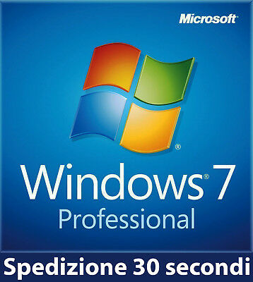 Licenza Windows 7 PRO PROFESSIONAL 32/64 BIT Key ORIGINALE 100% ESD