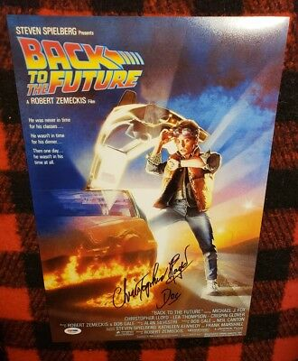 *CHRISTOPHER LLOYD* Signed 12x18 Back to the Future Movie Photo w/inscr PSA/DNA