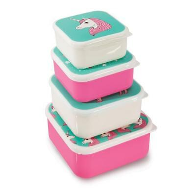 NEW iSGift Fun Times Nesting Lunch Boxes - Unicorn - Set 4