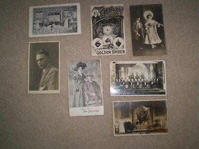 Vintage Edwardian postcards -  theatre - musicians - actors - a selection