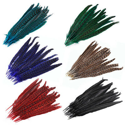 10-100Pcs Beautiful Pheasant Tail Feathers Costume DIY Decoration 10-12 Inch