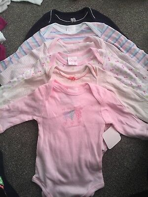 BABY GIRLS BUNDLE OF LONG SLEEVE VESTS BODYSUITS AGE 0-3 MONTHS NEXT Some New