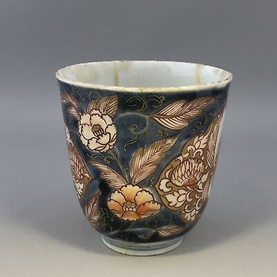 Japanese antique porcelain imari cup - with damage but very old - age unknown