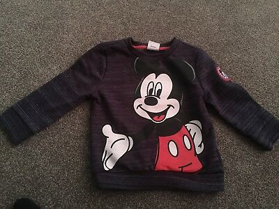 Boys Mickey Mouse Jumper Age 12-18 Months Disney