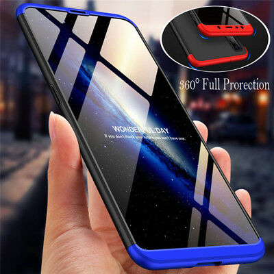For Samsung Galaxy A7 2018 A6+ 360° Full Protection Case Hybrid Armor Hard Cover