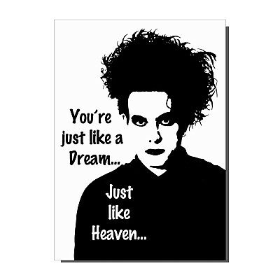 The Cure Robert Smith Just Like Heaven Goth Punk Valentines Day Birthday Card