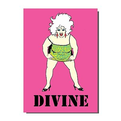 1980s Inspired Divine John Waters Drag Queen Birthday Greetings Card