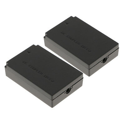 2x Camera Dummy Battery Pack LP-E12 LPE12 for Canon EOS M, M2, M10, M50,100D