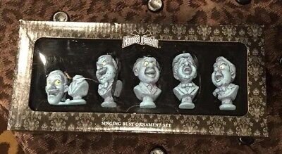 New HAUNTED MANSION Disney Theme Park Exclusive Singing Busts Ornament Set