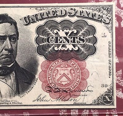 FR. 1266 5th ISSUE 10 CENT FRACTIONAL CURRENCY NOTE PCGS 58PPQ