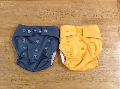 Grovia Snap Shell Cloth Diaper Shell Only Lot of 2 Grey and Orange
