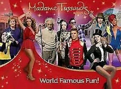 2x Madame Tussauds London E-tickets FRI 1 FEB 2018 11.45 AM - FOR ADULT OR CHILD