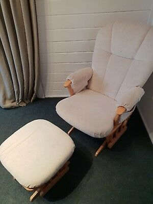 Serenity Natural Glider Nursing maternity gliding rocking chair with footstool