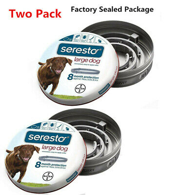 Bayer Seresto Flea and Tick Collar for Large Dogs with 8 Month Effect--Two Packs