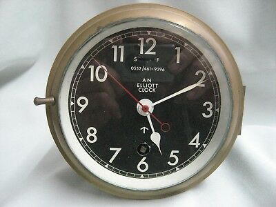 Elliott naval bulk head clock