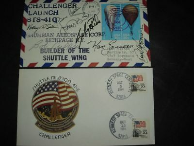 STS 41G launch/landingset orig.signed Crew incl.RIDE, SPACE