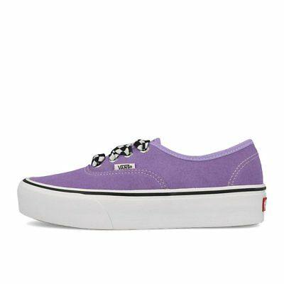 7aa504e28498 Vans Authentic Platform 2.0 Checkerboard Laces Violet Plateau Skaterschuhe  Lila