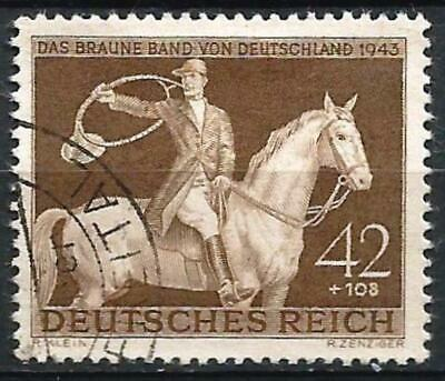Germany (Third Reich) 1943 Used - 'Brown Band of Germany' Horse Race Munich-Riem