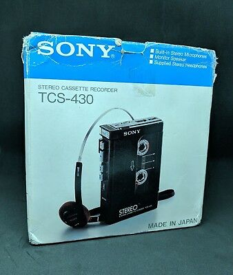 sony tcs-430 registratore con accessori ottimo stato no  walkman tps-l2 cosplay