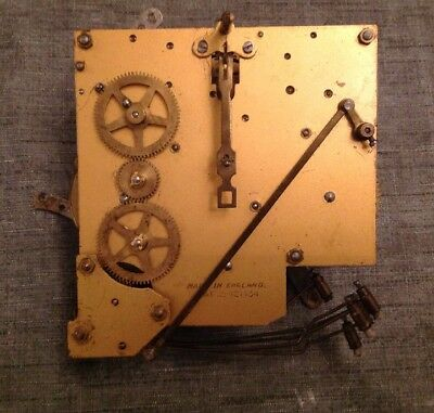 Antique Clock Movement Westminster Chime Leader Suspension Repair Spare Parts