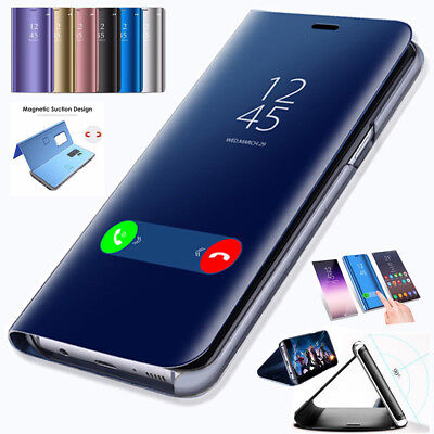 Samsung A9 Smart View Mirror Flip Stand Case Cover For Samsung Galaxy A9 2018