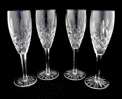 """4 Araglin Champagne Flutes - 8 1/2"""" - Waterford"""
