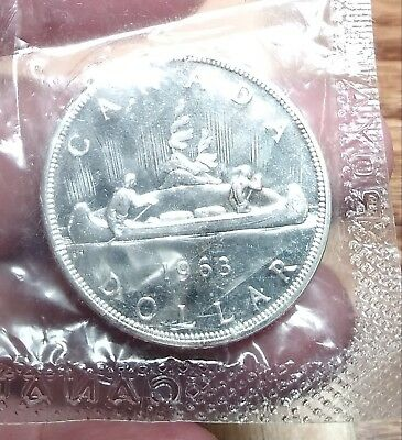 1963 Silver Canada One Dollar Coin