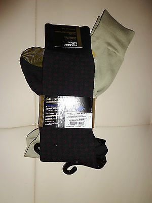 Mens NEW Gold Toe Premier socks combed moisture control 2 PAIRS very soft L@@K!