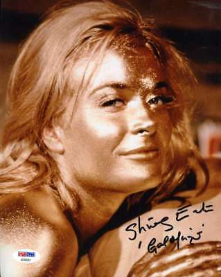 SHIRLEY EATON GOLDFINGER Hand Signed PSA DNA 8x10 Photo Autograph Authentic