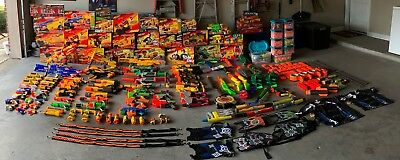 HUGE Nerf Lot ! Loose, New, 90+ guns, HUNDREDS of rounds of ammo, accessories