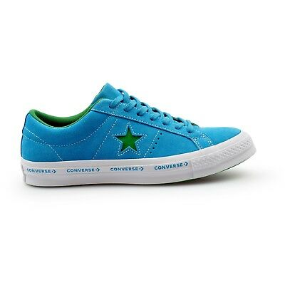 145a6aefcd8 Converse One Star Pinstripe Ox Hawaiian Blue Mens Suede Trainers New 159813C
