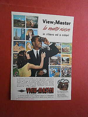 Werbung print ad 1962 Italy Sawyer's View-Master Betrachter Reels Papa + Kind