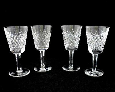 """Waterford Crystal - Alana - 4 White Wine Glasses Goblets - 5 1/2"""""""