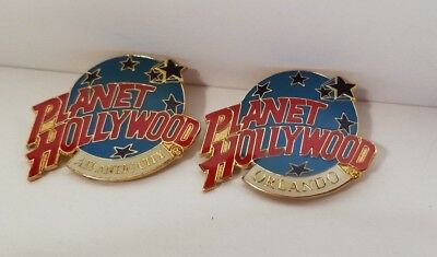 Planet Hollywood Pins Orlando & Atlantic City Planet With Stars Lot of 2