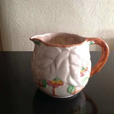 VINTAGE CHINA BRENTLEIGH BEECH VINTAGE CHINA JUG . TEXTURED FINISH 1950,s .