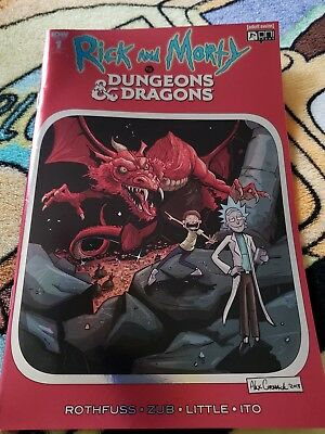 Rick and morty vs dungeons and dragons red foil cover