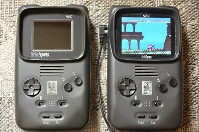 """Turbo Grafx 16 Express Handheld With 3.5"""" LCD, Controller + Av Out. Plus More."""