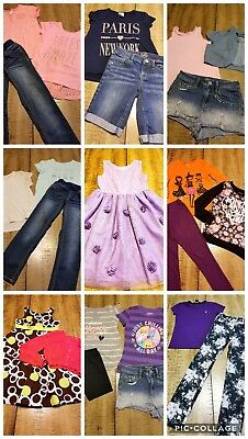 Girls Size 7/8 Lot Of Spring Summer Clothes 25 Pc Justice  Mudd Cat&jack