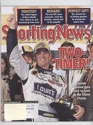 2007 Sporting News #11-26 Jimmie Johnson Publications