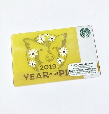 2019 STARBUCKS Gift Card ZERO $ Balance CHINESE NEW YEAR Pig (CDN) No Value