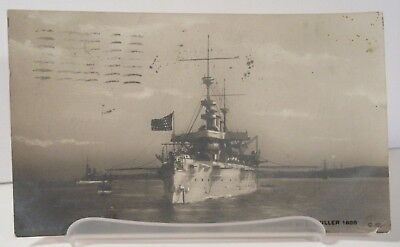 USS New York Armored Cruiser Real Photo Postcard Muller ACR-2 NY Navy Military