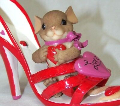 Charming Tails YOU'RE A LOVING SOLE ~ Hamilton Fitz & Floyd Shoe Heart Valentine