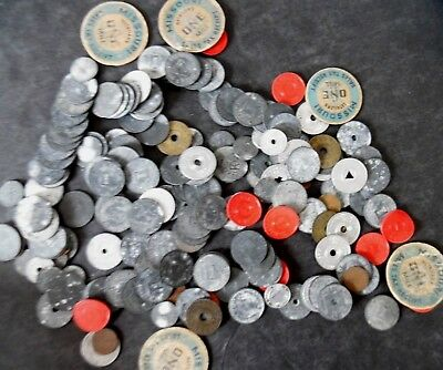 Lot of 180 1930s Depression Era State Tax Tokens - Many Are Midwest States