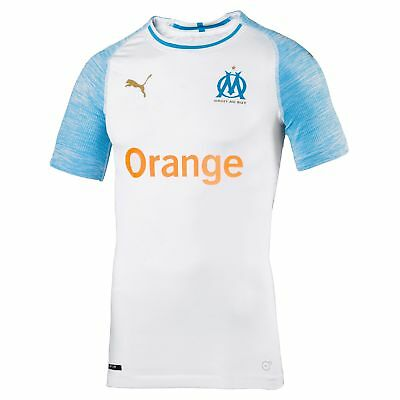 Olympique de Marseille Authentic evoKNIT Football Home Jersey Shirt Tee Top 2018